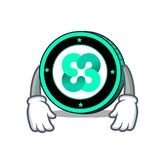 Tired Ethos coin mascot cartoon. Vector illustration Royalty Free Stock Image