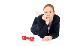 Tired of exercise Stock Photo
