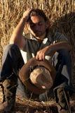Tired Farmer stock photography