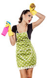 Tired fashionable housewife Stock Photos