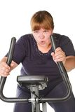 Tired fat woman Royalty Free Stock Photos