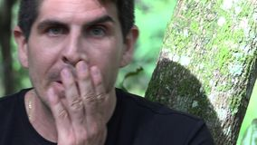 Tired And Fearful Man. Stock video of tired and fearful man stock footage