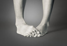 Barefooted female feet Royalty Free Stock Photo