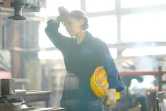 Free Tired Female Worker Royalty Free Stock Photo - 148092775