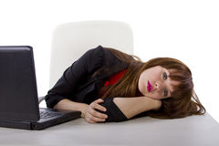 Tired Female Worker Stock Photos