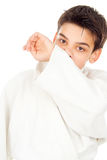 Tired of fighting boy wiped the sweat Stock Image
