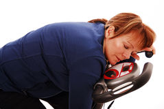 Tired fitness woman Royalty Free Stock Photography