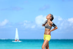 Free Tired Fitness Woman Taking A Break Of Hard Workout Royalty Free Stock Photo - 67161045