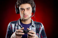 Tired gamer. Stock Photo
