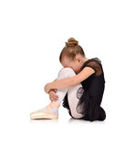 Tired girl ballerina Stock Images