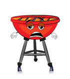 Tired grill cartoon Royalty Free Stock Photography