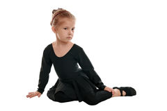 Tired gymnast Stock Photography