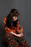 Tired Gypsy woman Royalty Free Stock Photo