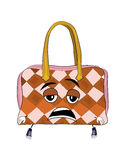 Tired handbag cartoon Stock Image