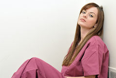 Tired Healthcare professional looking at viewer Stock Images