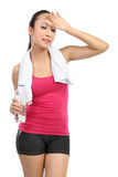 Tired healthy woman Stock Images