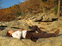 Tired Hiker Royalty Free Stock Photography