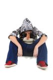 Tired hip hop dance sitting Stock Image