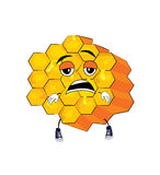 Tired honeycomb cartoon Stock Photography