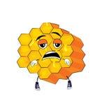 Tired honeycomb cartoon. Vector illustration of tired honeycomb cartoon Stock Photography