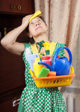 Tired House Keeper royalty free stock image