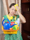 Tired House Keeper Stock Image