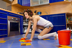 Tired housewife Stock Photography
