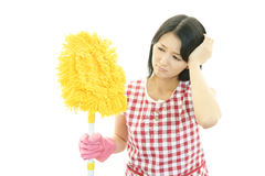Tired housewife Stock Photos