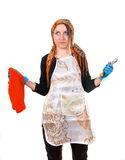 Tired housewife Royalty Free Stock Photography