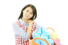 Tired housewife Royalty Free Stock Photo