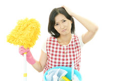 Tired housewife Royalty Free Stock Image