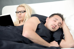 Tired Husband Stock Images