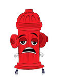 Tired hydrant cartoon Stock Images