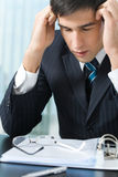 Tired or ill businessman Royalty Free Stock Photo