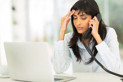 Tired indian businesswoman Stock Images