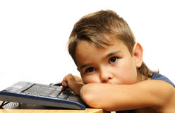 Tired kid Stock Photography