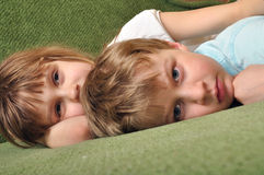 Tired kids Royalty Free Stock Photo