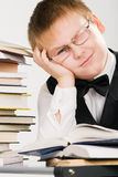 Tired of learning process Stock Image