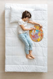 Tired little artist taking a nap Royalty Free Stock Photos