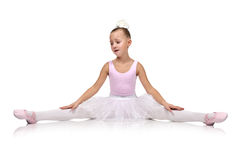 Tired little  ballet dancer Stock Images