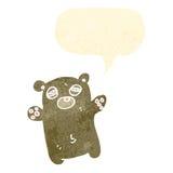 Tired little bear cartoon Stock Photos