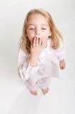 Tired little girl Stock Photo