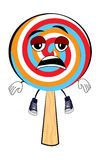 Tired Lollipop cartoon Royalty Free Stock Photo