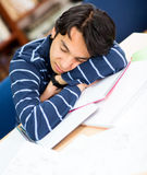 Tired male student Royalty Free Stock Photography