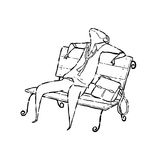 Tired man on chair Stock Photography
