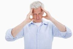 Free Tired Man Having A Headache Stock Photo - 22663300