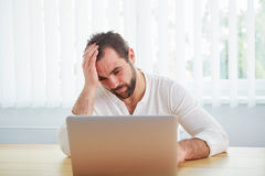 Tired man under stress Stock Photography