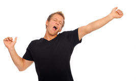 Tired man yawning Stock Photography