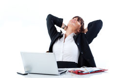 Tired Manager. Woman manager tired to work Royalty Free Stock Image
