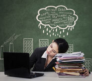 Tired manager facing many problems Stock Photography